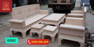 bộ ghế dải quạt gỗ đinh hương GD02