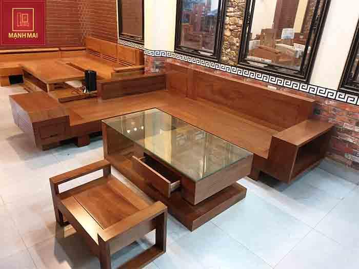 nội thất gỗ phòng khách đẹp
