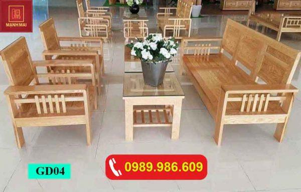 Bộ ghế Phúc Lộc Thọ gỗ sồi Nga GD04