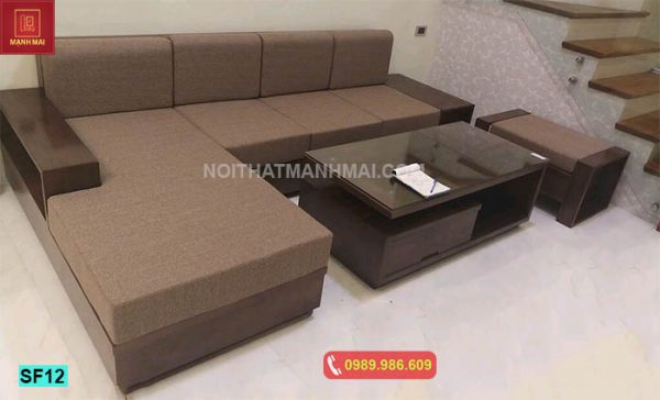 Bộ ghế sofa hộp mặt bằng gỗ sồi Nga SF12