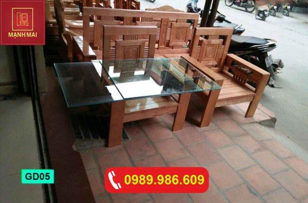 Bộ ghế đối dấu cộng gỗ sồi Nga GD05