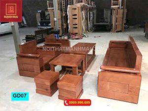 Bộ ghế đối tay trứng gỗ sồi Nga GD07
