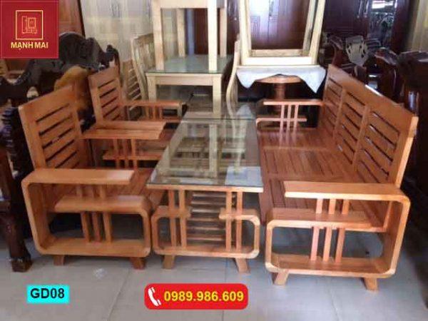 Bộ ghế chữ G gỗ sồi Nga GD08