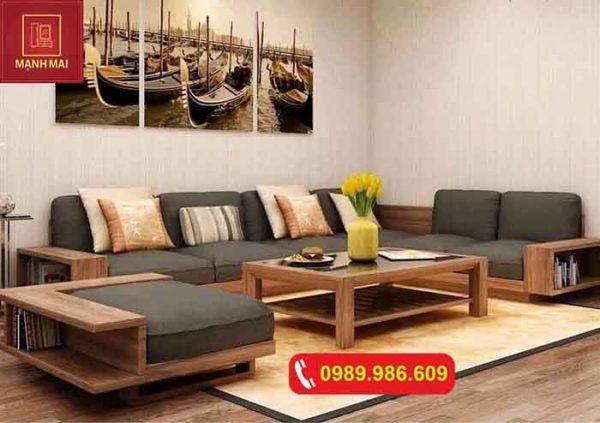 Bộ ghế sofa bệt kiểu Nhật gỗ sồi Nga SF11