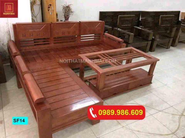 bộ ghế sofa góc trứng nhỏ gỗ sồi Nga SF14