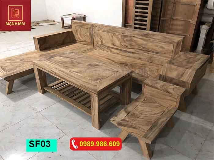 giá bàn ghế phòng khách gỗ hương xám