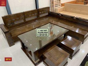 Bộ ghế sofa góc tay chồng trứng gỗ sồi Nga SF10