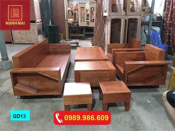 Bộ ghế đối kiểu Nhật gỗ xoan đào GD13