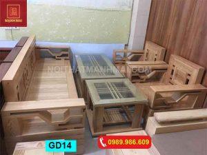bộ ghế đối tựa kiểu lá me gỗ sồi Nga GD14