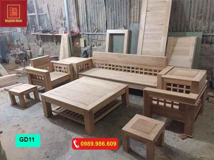 Bộ bàn ghế đối phong cách cổ xưa gỗ sồi Nga GD11