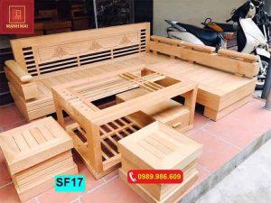 bộ ghế sofa góc vương miện SF17