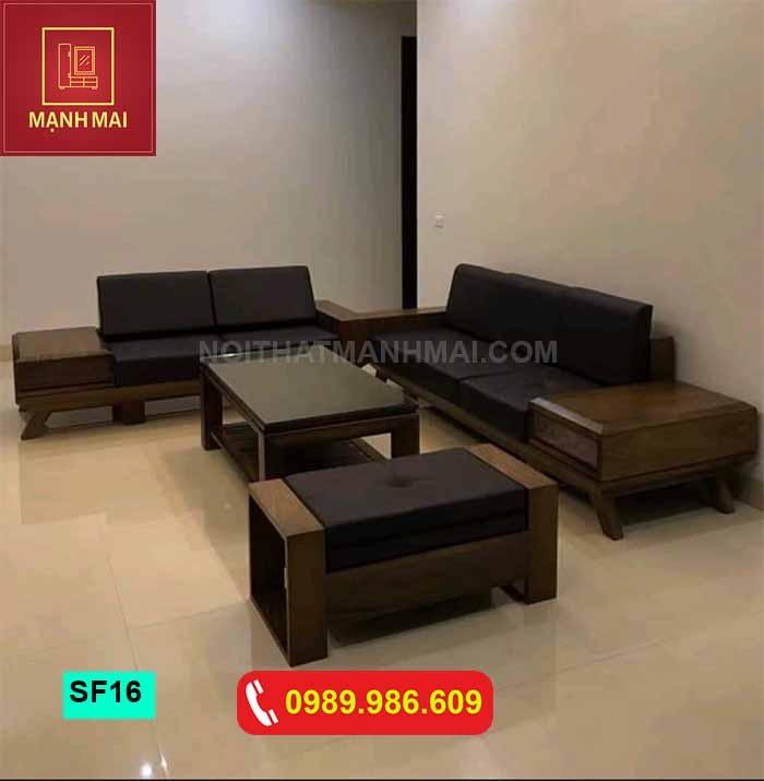 Bộ ghế sofa hộp kiểu Nhật gỗ sồi Nga SF16