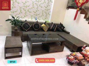 Bộ ghế sofa ngăn kéo ô tô gỗ sồi Nga SF20