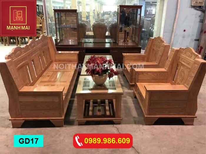 Bộ bàn ghế Như ý gỗ sồi Nga GD17