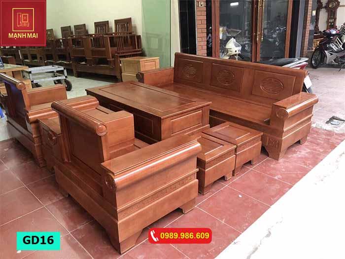 Bộ ghế đối tay pháo gỗ sồi Nga GD16