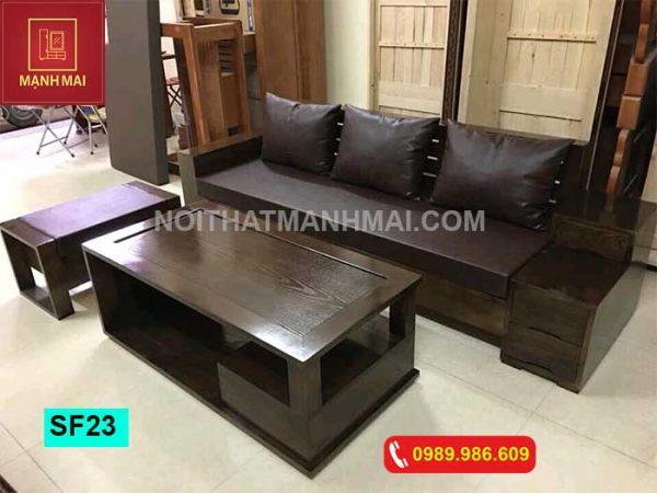 Bộ ghế sofa hộp 3 ngăn kéo gỗ sồi Nga SF23