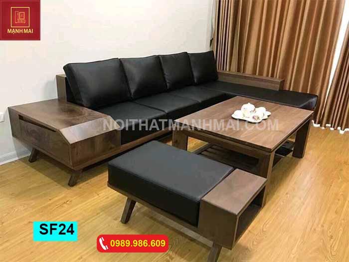 Top 5 bộ bàn ghế gỗ cho phòng khách hiện đại giá rẻ 2019
