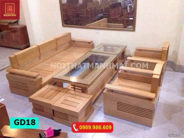 Bộ ghế đối tựa tay trứng bộ gỗ sồi Nga GD18