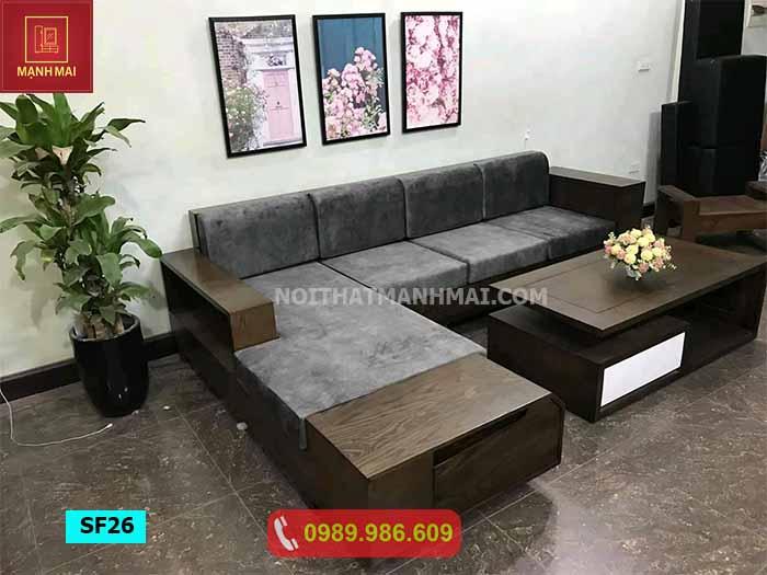 Bộ ghế sofa ngăn kéo vát gỗ sồi Nga SF26