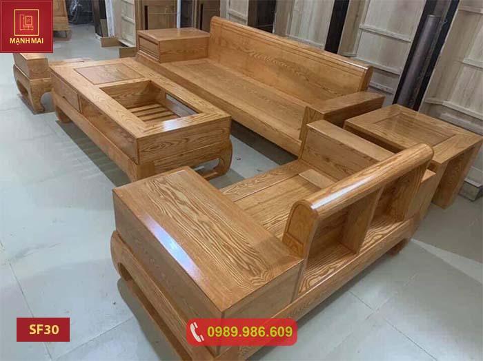 ghế sofa chân bàn cong gỗ sồi Nga SF30