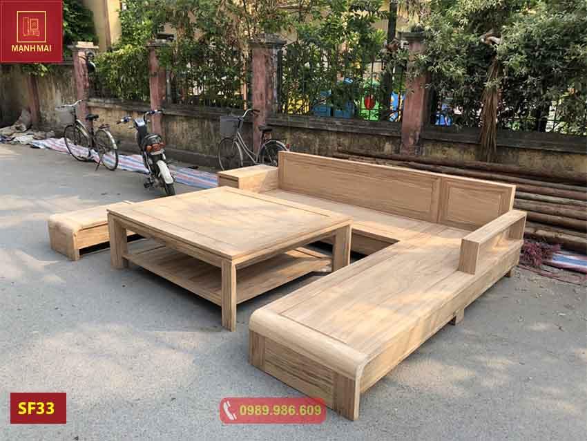 ghế sofa chân cuốn gỗ hương xám SF33