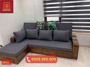Sofa kéo thành giường gỗ sồi Nga SF39