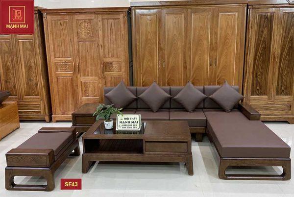 Bộ ghế sofa chân quỳ gỗ sồi Nga SF43